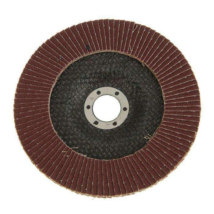 Круг лепестковый торцевой TUNDRA basic, 150 х 22 мм, Р80
