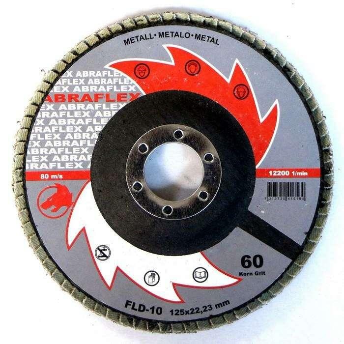 Круг лепестковый торцевой ABRAFLEX FLD-10, P60, 125 х 22,2 мм