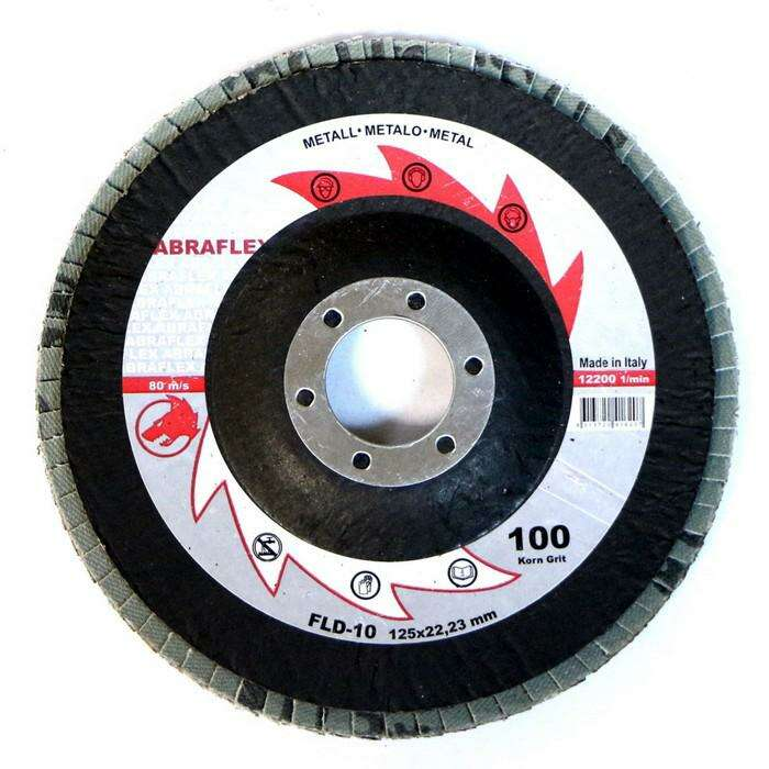 Круг лепестковый торцевой ABRAFLEX FLD-10, P100, 125 х 22,2 мм