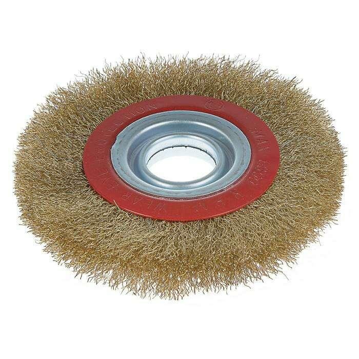 Щетка металлическая для точила LOM, плоская, 150 х 32 мм