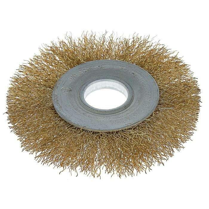 Щетка металлическая для УШМ LOM, плоская, 22 мм, 100 мм