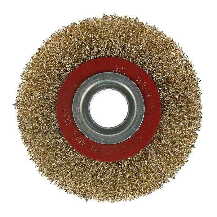 Щетка металлическая для точила LOM, плоская, 100 х 20 мм