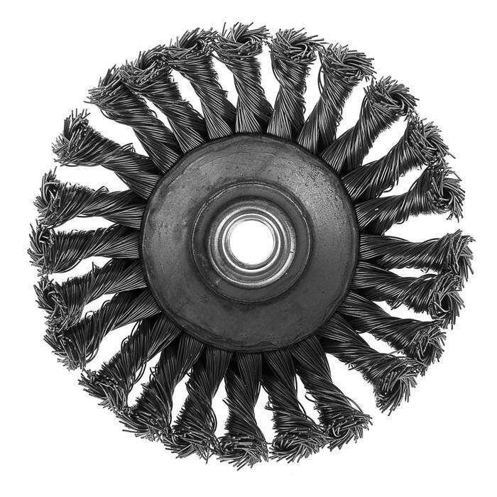 """Щетка металлическая для УШМ LOM, крученая проволока, """"тарелка"""", М14, 125 мм"""
