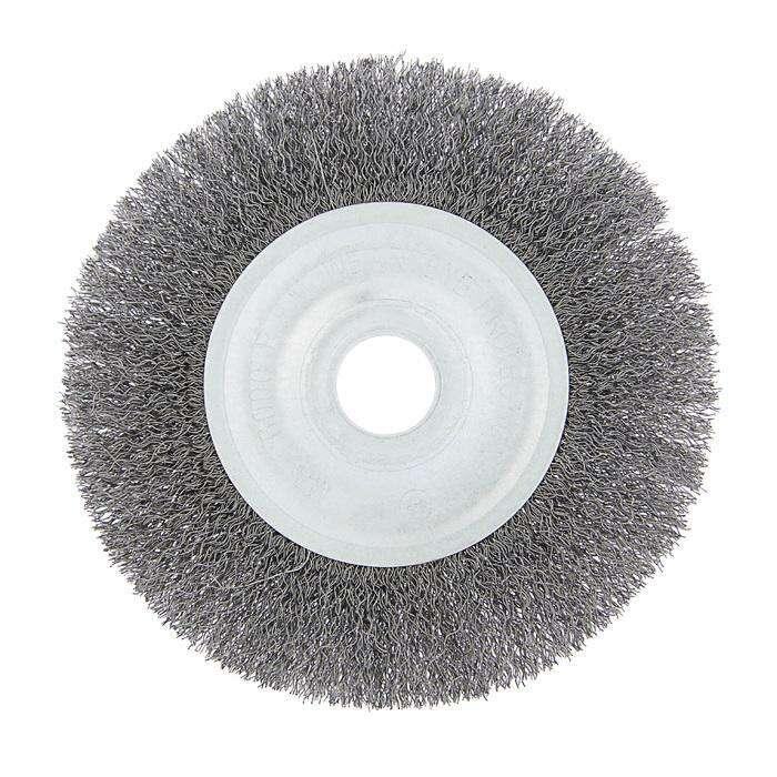 Щетка металлическая для УШМ TUNDRA basic, плоская, 22 мм, 150 мм