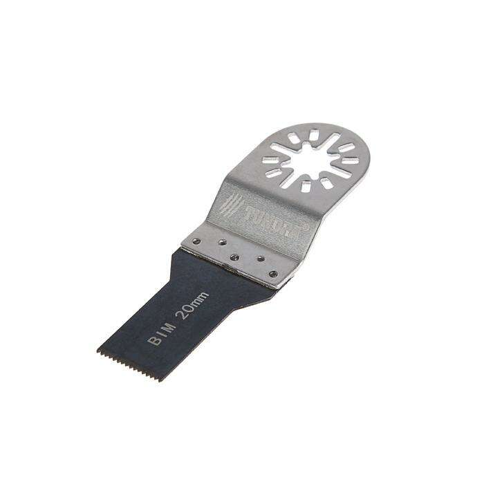 Насадка для МФИ TUNDRA прямая по металлу, BiM, 20 мм, мелкий зуб