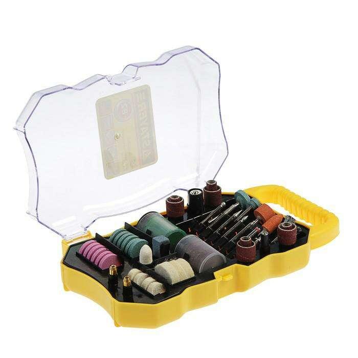 Набор мини-насадок STAYER Master, для гравировальных машин, 82 предмета, пластиковый кейс