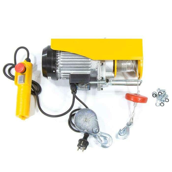 Тельфер электрический DENZEL TF-500, 0,5 т, 1020 Вт, высота 12 м, 10 м/мин