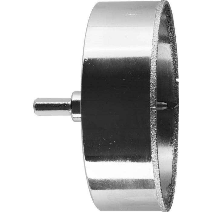 Коронка алмазная ЗУБР 29850-102, по кафелю и стеклу, d=102 мм, Р60, в сборе со сверлом