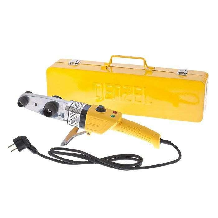 Аппарат для сварки пластиковых труб Denzel DWP-800, Х-PRO, 800 Вт, 300 °С, комплект насадок, 20-32 мм