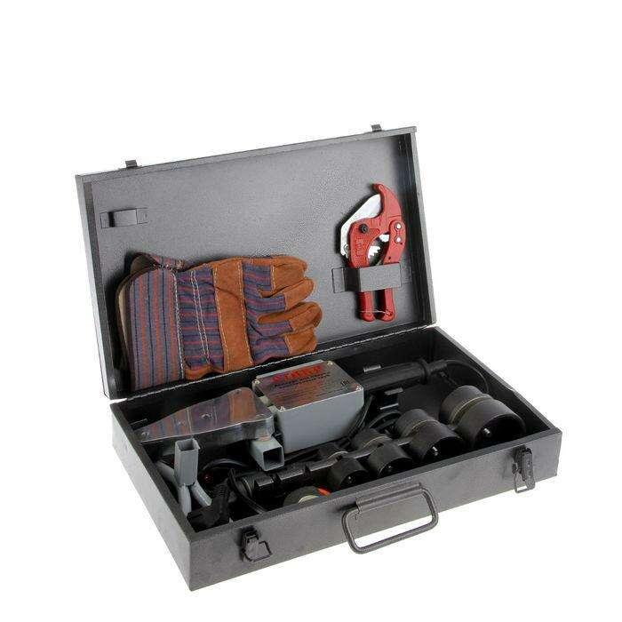 """Аппарат для сварки пластиковых труб """"Ставр"""" АСПТ- 2000, 2000 Вт, 0-300°, комплект насадок"""