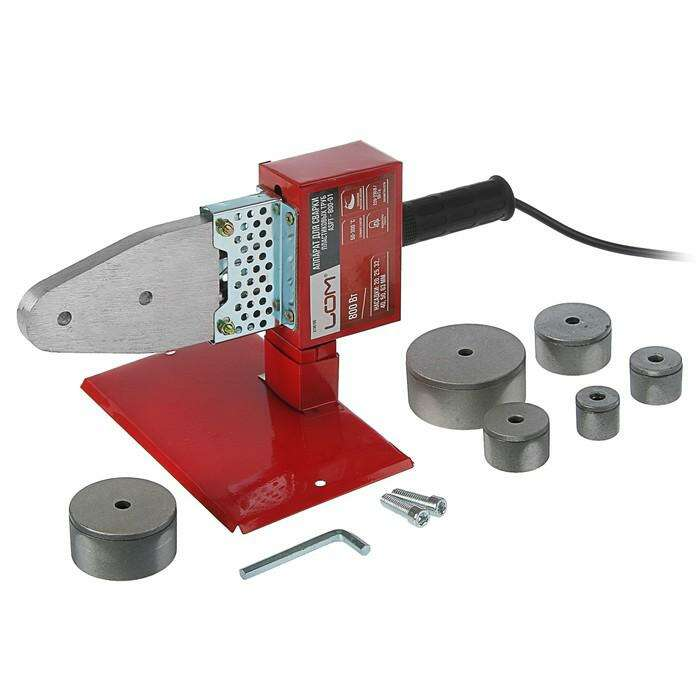 Аппарат для сварки пластиковых труб LOM, 800 Вт, комплект насадок 20-63 мм, 50-300°