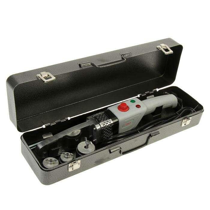 """Аппарат для сварки пластиковых труб """"Ставр"""" АСПТ- 900М, 900 Вт, 50- 300°, комплект насадок"""