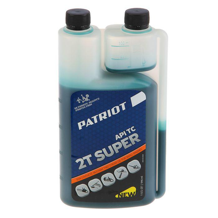 Масло PATRIOT SUPER ACTIVE 2T, 0.946 л, полусинтетическое, с дозатором