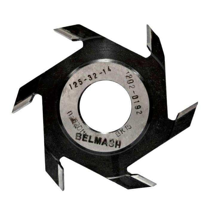 Фреза пазовая BELMASH, 125х32х14 мм