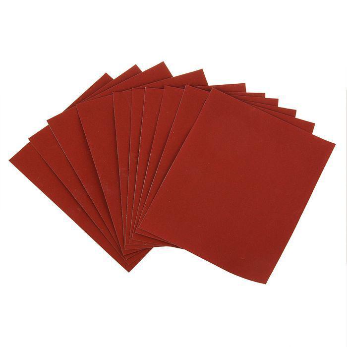 Шкурка шлифовальная в листах LOM, на бумажной основе водостойкая, 230 х 280, Р100, 10 шт.