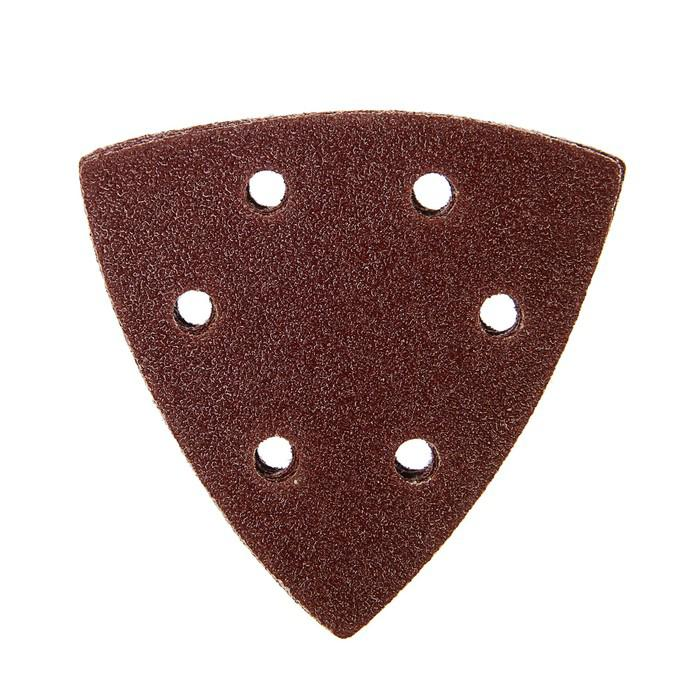 Треугольник абразивный под липучку TUNDRA basic, перфорированный, 93 мм, Р60, 10 шт.