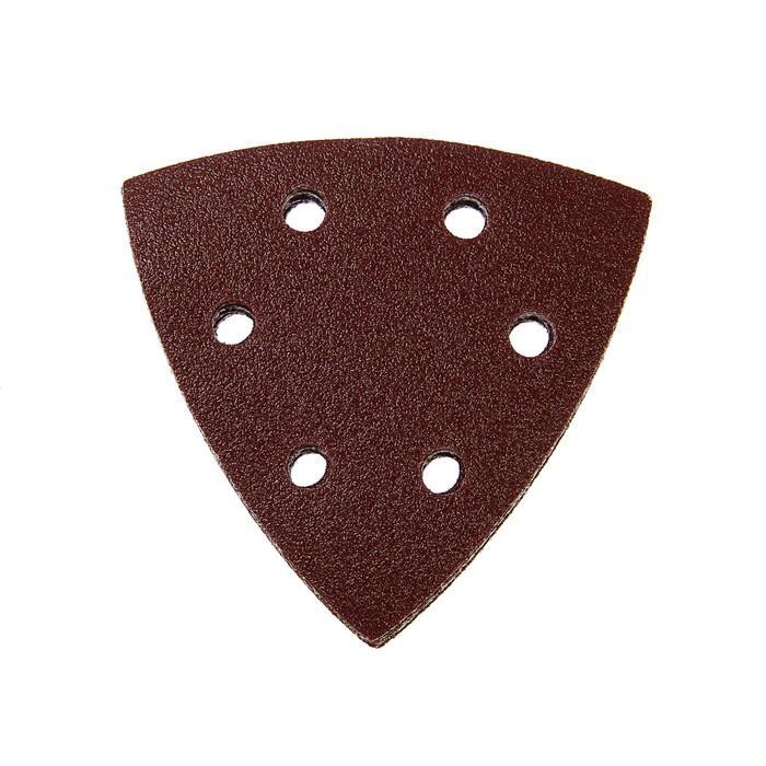 Треугольник абразивный под липучку TUNDRA basic, перфорированный, 93 мм, Р100, 10 шт.