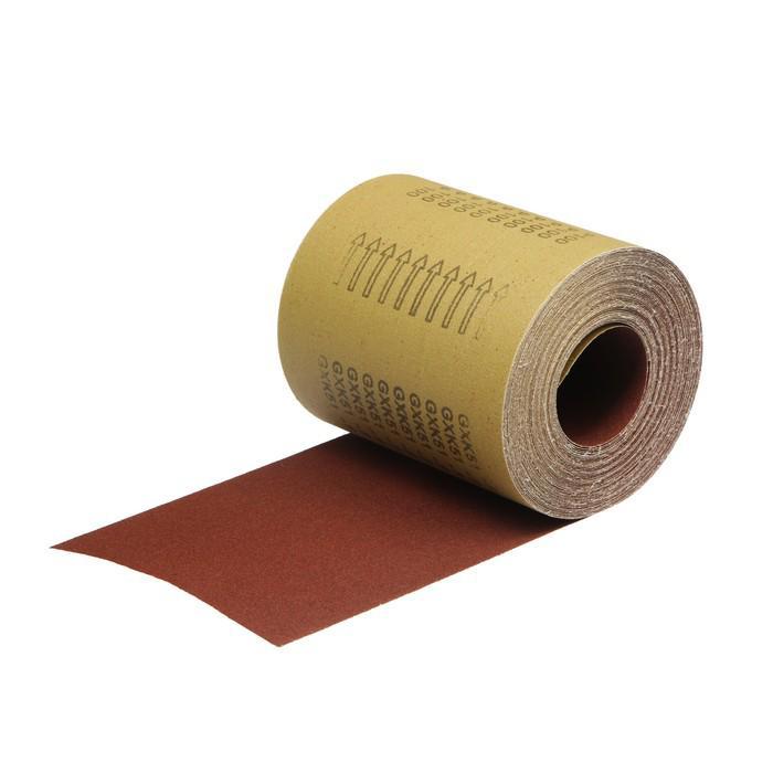 Шкурка шлифовальная в мини-рулонах TUNDRA basic, на тканевой осн. водост., 200мм х 20м, Р100
