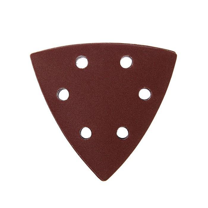 Треугольник абразивный под липучку TUNDRA basic, перфорированный, 93 мм, Р240, 10 шт.