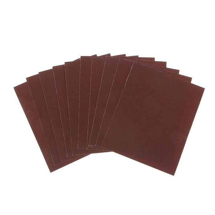 Шкурка шлифовальная в листах TUNDRA basic, на тканевой основе водост., 230х280, Р80, 10 шт.