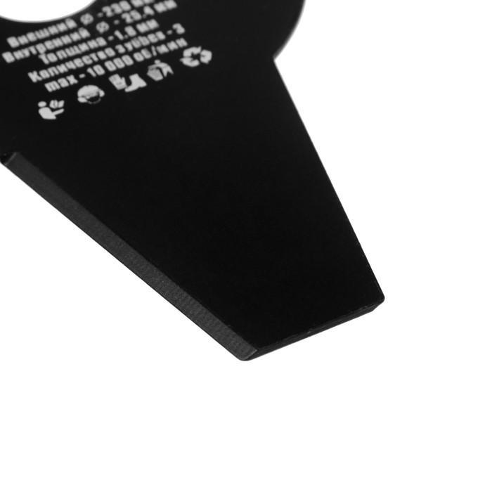 Нож для триммера Rezer ВС-07 General, 3-х лучевой, 230ммx25.4ммx1.8мм, высокопрочная сталь