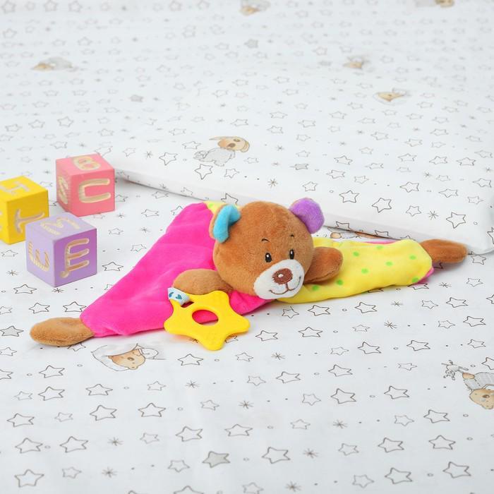 """Комфортер """"Медвежонок"""" разноцветные ушки, с грызунком"""