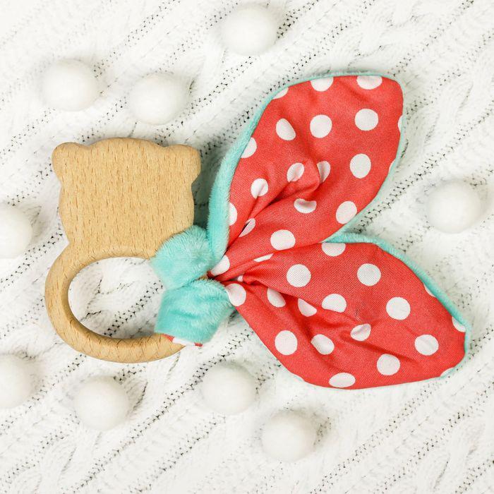 Развивающая игрушка-грызунок «Для маленьких джентльменов», форма мишка