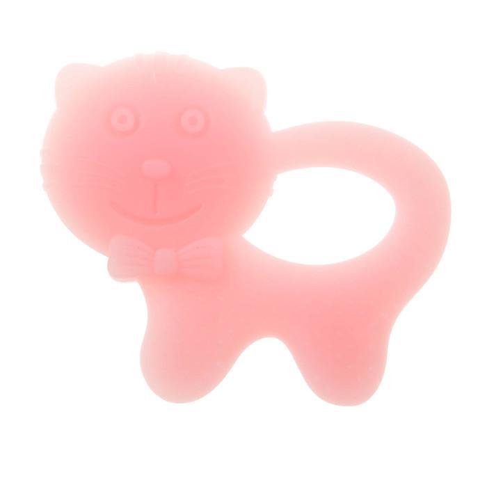 Прорезыватель силиконовый «Крошка Я. Котик», цвет МИКС