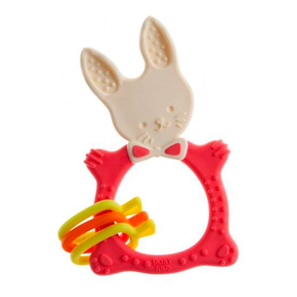 Прорезыватель Roxy RBT-001R Bunny коралловый