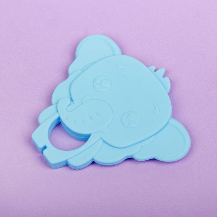 Прорезыватель силиконовый «Крошка Я. Слоник», цвет голубой