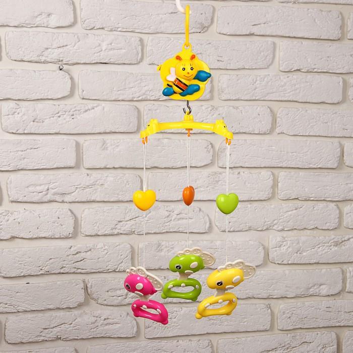 Мобиль музыкальный «Пчёлка. Пони», 3 игрушки, заводной, без кронштейна