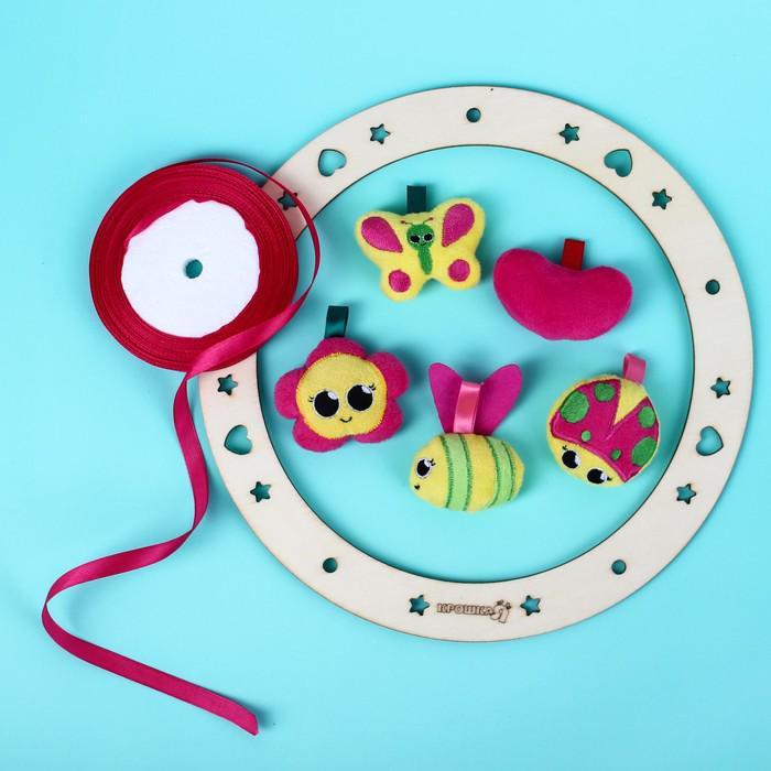 Подвеска с игрушками на мобиль «Полянка»