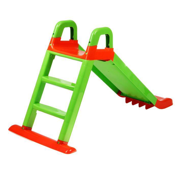 Детская горка, цвет зелёный