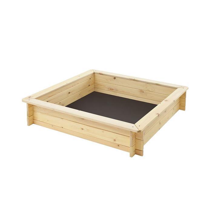 Песочница деревянная «Синдбад», 110 х 110 х 25 см., 4 лавки, подложка