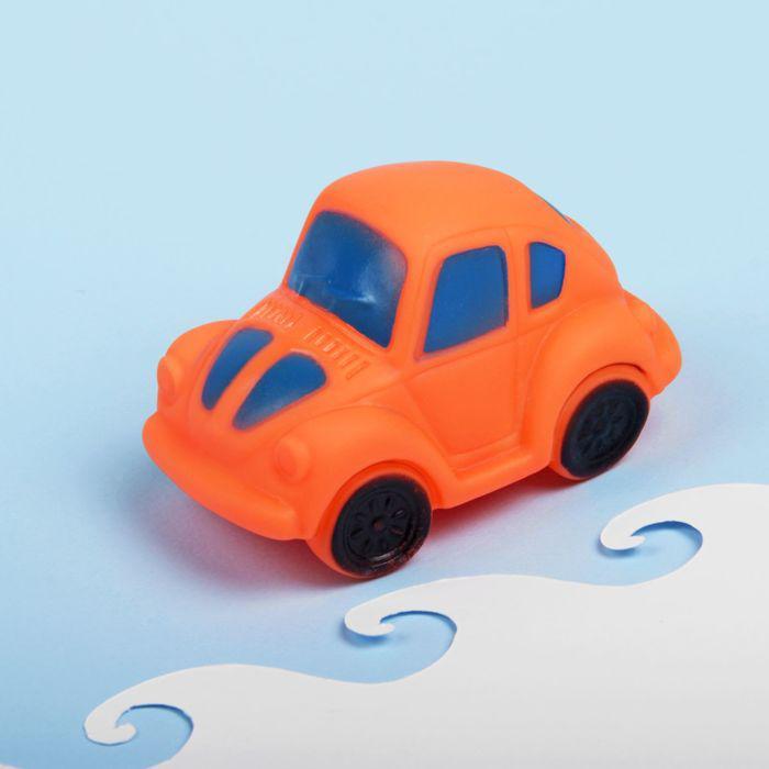 Игрушка для ванны «Машинка», с пищалкой, цвет МИКС