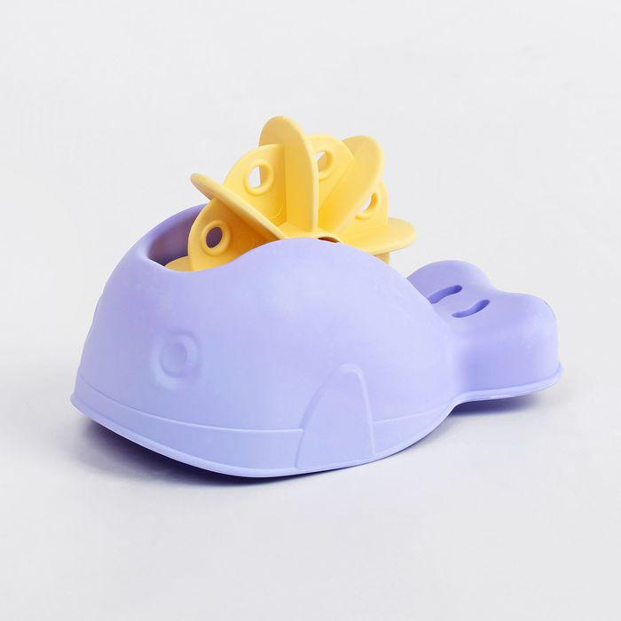 Игрушка для купания «Кит мягкий с вертушкой», МИКС