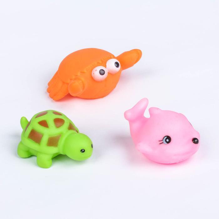 Набор игрушек для ванны «Морские животные», 6 шт., МИКС