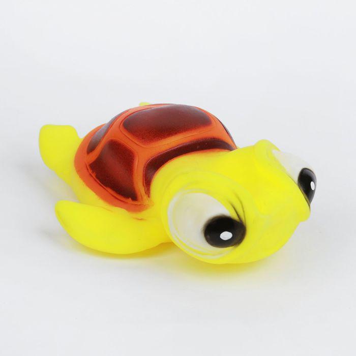 Игрушка-пищалка для ванны «Черепашка», цвета МИКС