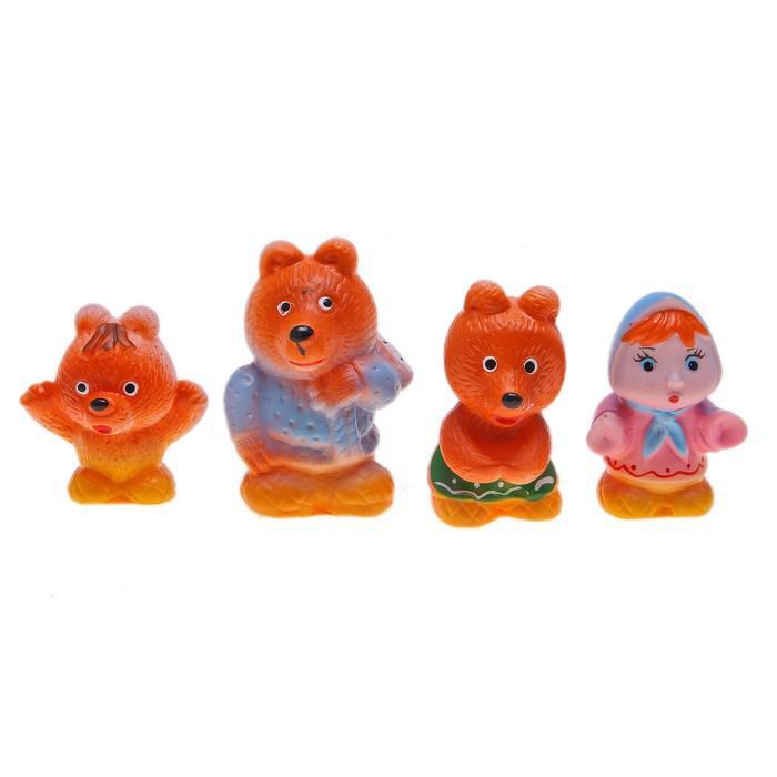 Набор резиновых игрушек «Три медведя»