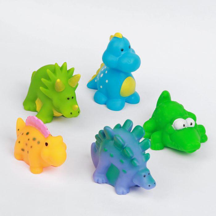Набор игрушек для ванны «Динозаврики», 5 шт.
