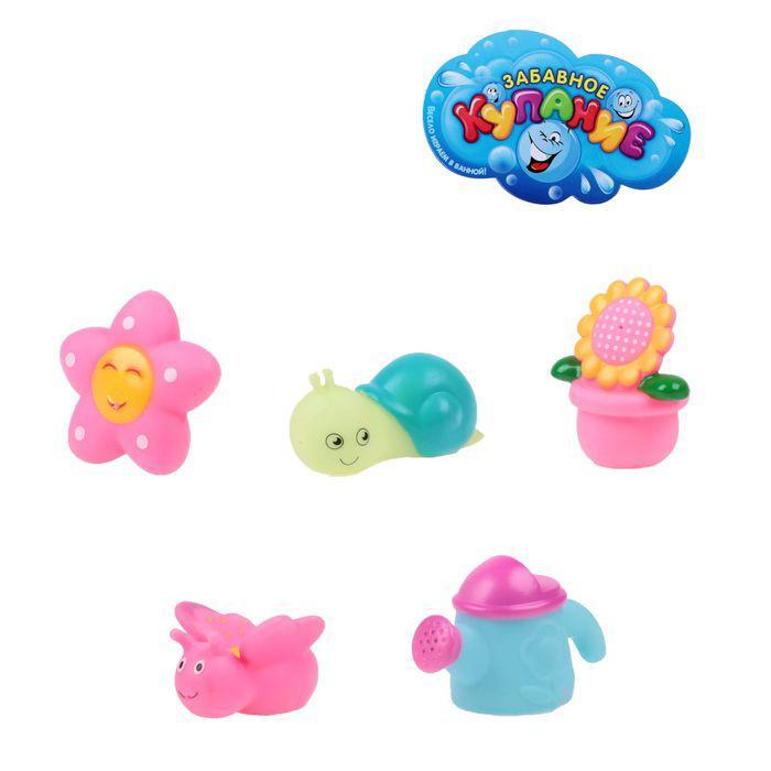 Набор игрушек для ванны «Полянка-2», 5 шт.