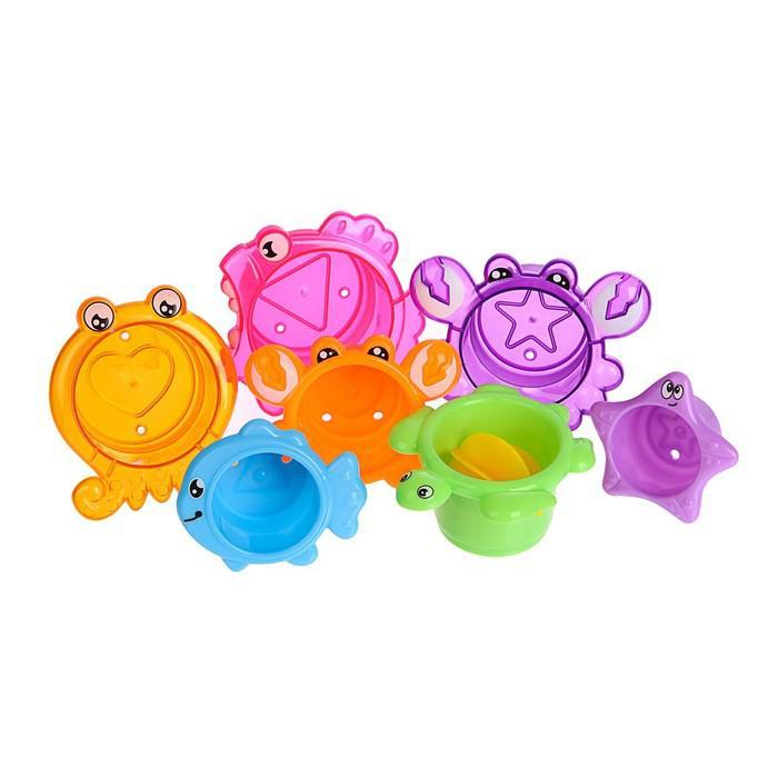 Игрушки для купания «Морские герои» 7 предметов