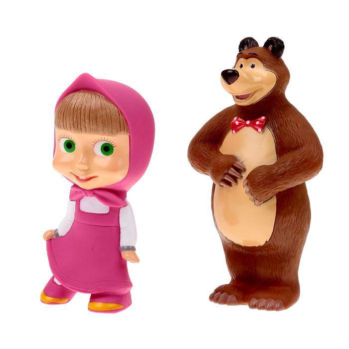 """Набор резиновых игрушек """"Маша и Медведь"""""""