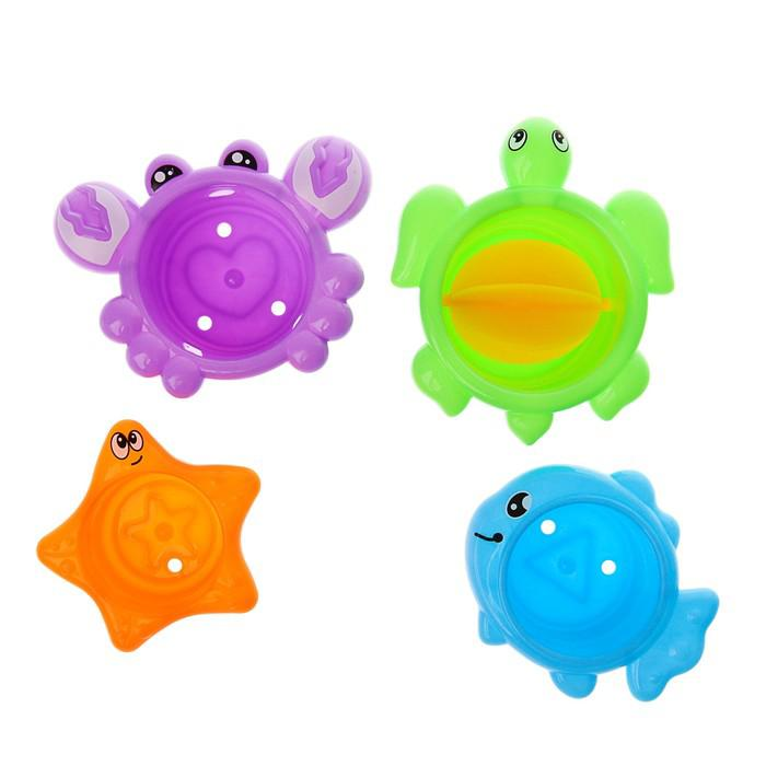 Игрушки для купания «Забавное купание», на присоске