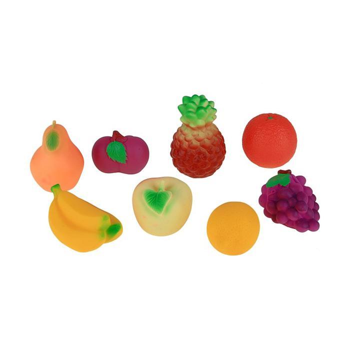 Набор резиновых игрушек «Фрукты»