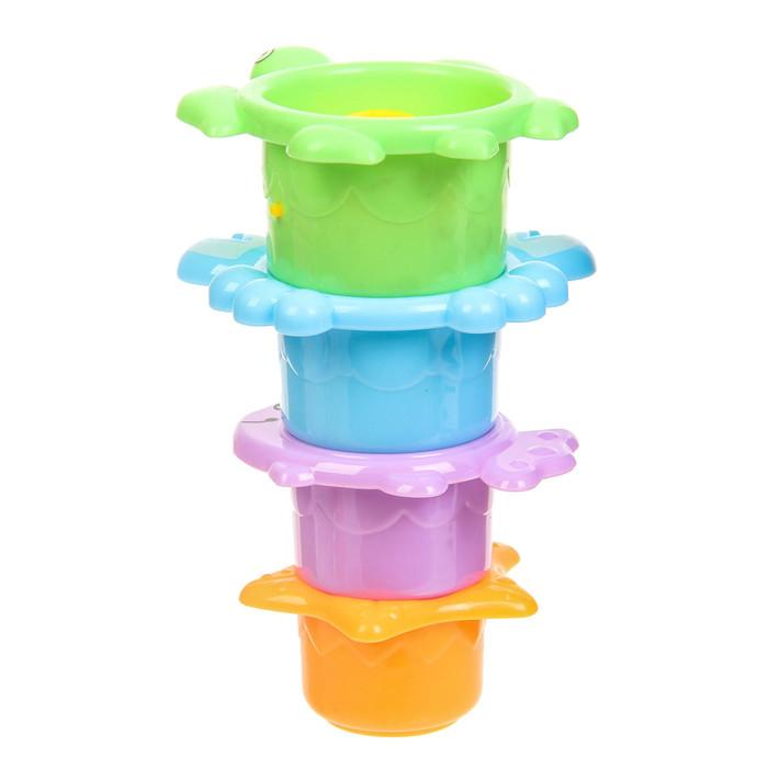 Игрушки для купания «Термометр. Крабик», 5 предметов