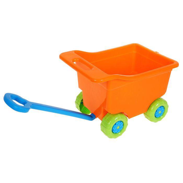 Тележка для игр на колёсах, большая, цвет оранжевый