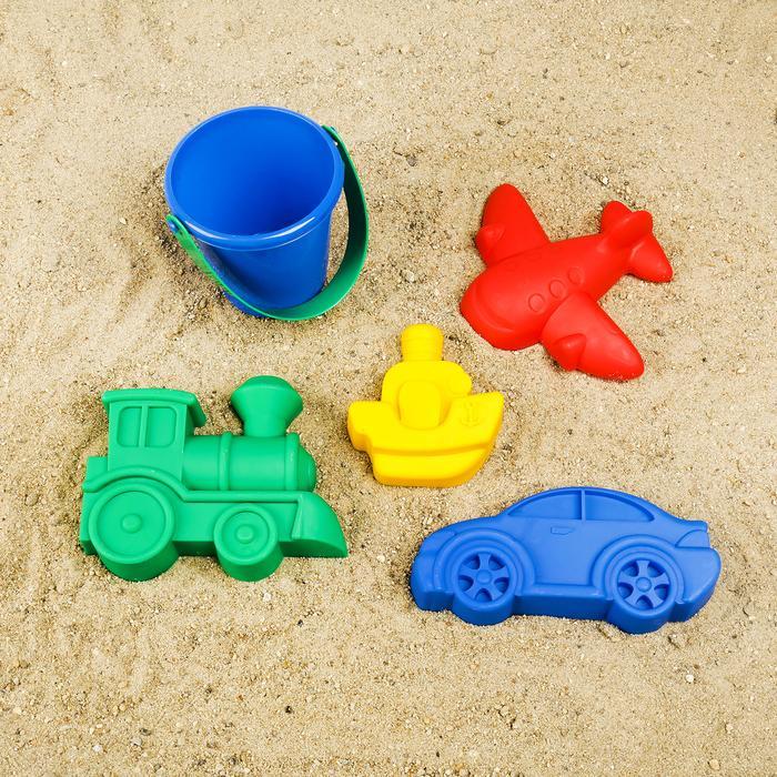 Набор для игры в песке №115: ведро, 4 формочки