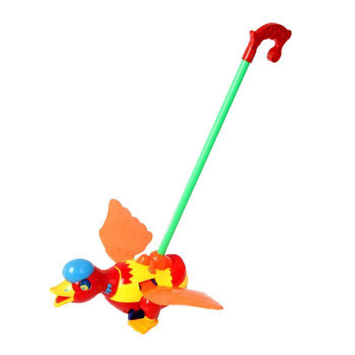 Каталка на палке «Утка», цвета МИКС