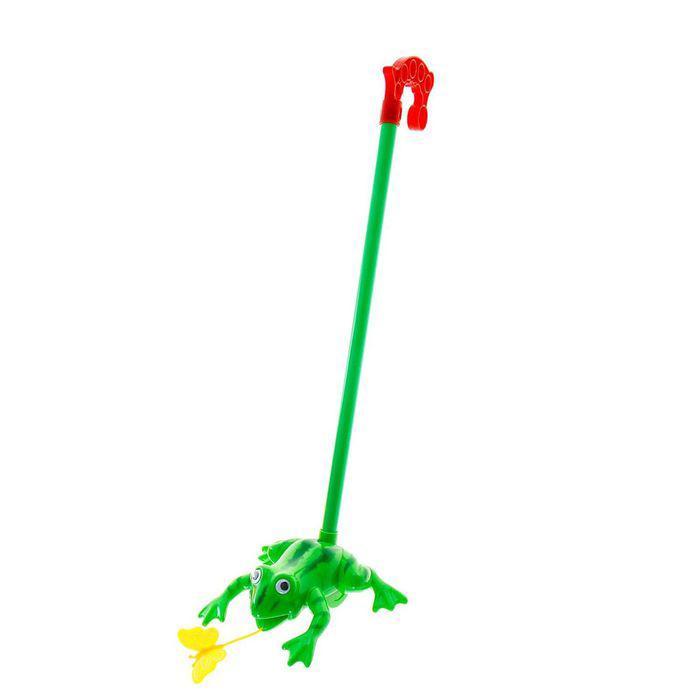 Каталка на палке «Лягушка», цвета МИКС